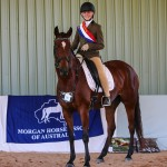 Imogen Taylor Champion Youth Rider on Boulevarde Gabrielle