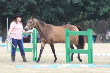 Kate Clare Gilmartin and her two year old Partbred filly Samaria Creek Grace.