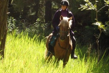 Merlin and Rhonda at Mt Colliery ride (1)
