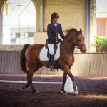 Rachel Whan dressage on Red Bluff Clear Wind
