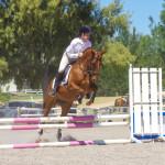 Rhys Stanley jumping Spoilt Brat Ella