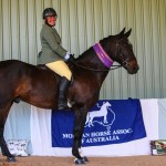 Weemala Mighty Mo and Sandi Frolich Supreme Champion Ridden Part Bred
