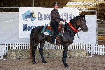 Wilga Park Silver Sabre and Kathy Lyons 2nd Ridden Stallion