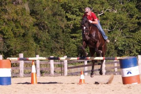 bareback jump